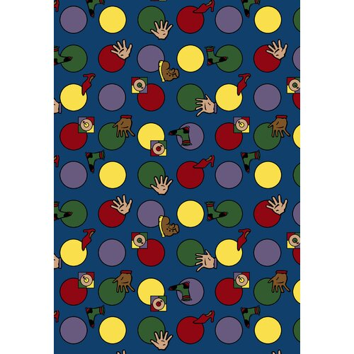 Joy Carpets Just for Kids Essentials Hokey Pokey Kids Rug