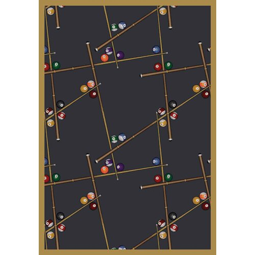 Joy Carpets Gaming & Entertainment Snookered Federal Blue Rug