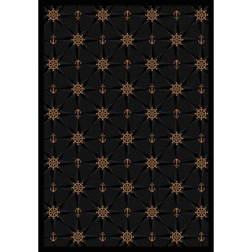 Joy Carpets Whimsy Mariner's Tale Onyx Novelty Rug