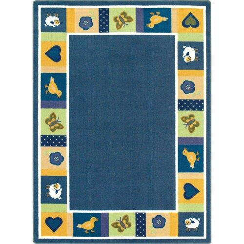 Joy Carpets Just for Kids Baby Bold Blue Area Rug