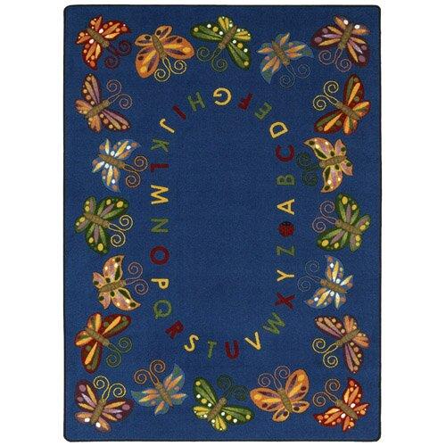 Joy Carpets Educational Butterfly Delight Kids Rug