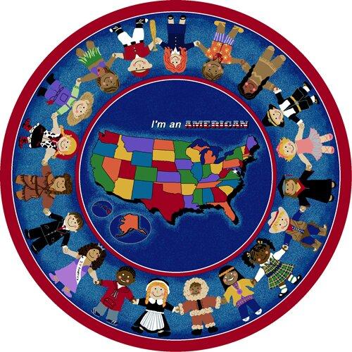 Joy Carpets Educational I'm an American Area Rug