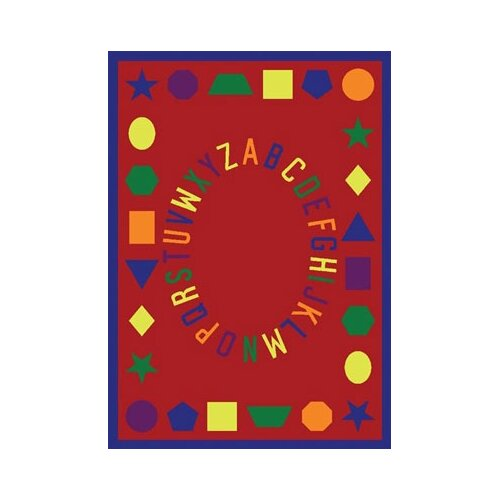Joy Carpets Educational First Lessons Blue Area Rug