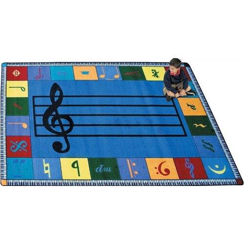Joy Carpets Educational Note Worthy Kids Rug