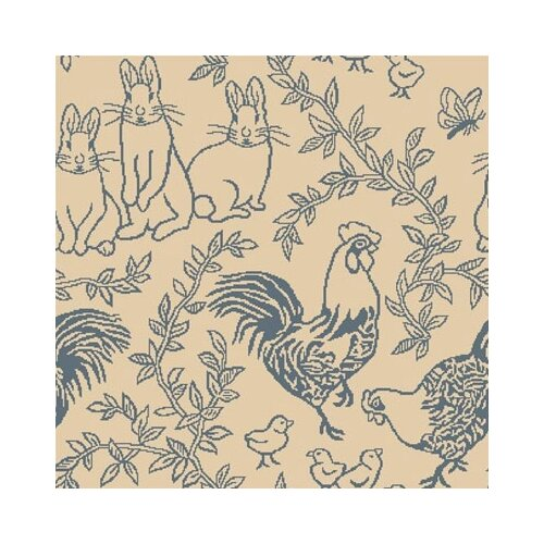 Joy Carpets Nature Feathers and Fur Blue Kids Rug