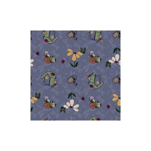 Joy Carpets Nature Blue Flower Gardens Novelty Rug