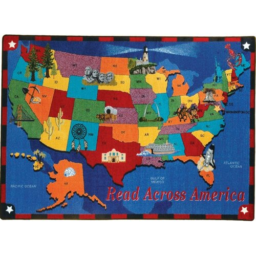 Joy Carpets Educational Read Across America Kids Rug