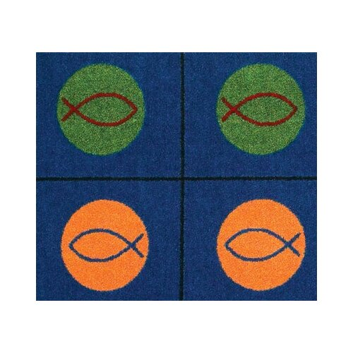 Joy Carpets Faith Based Circles and Symbols Area Rug