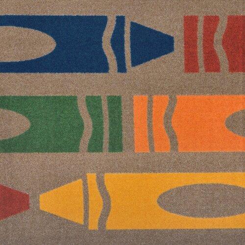 Joy Carpets Playful Patterns Jumbo Crayons Kids Rug