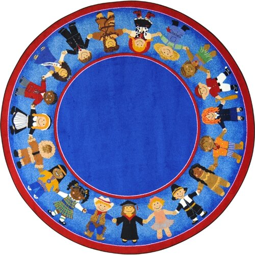 Joy Carpets Educational Children of Many Cultures Area Rug
