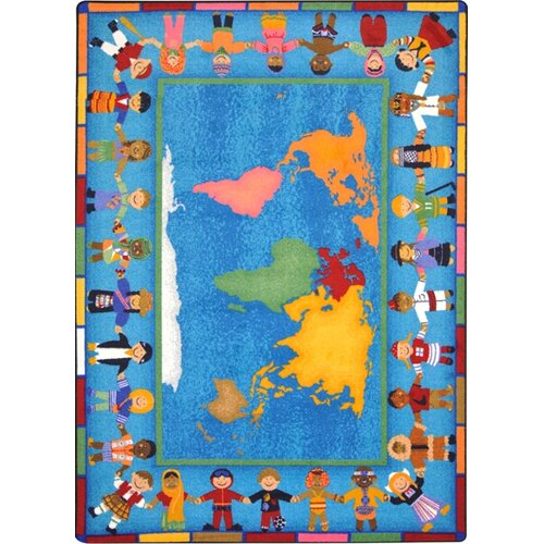 Joy Carpets Educational Hands Around the World Kids Rug