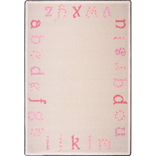Joy Carpets Kid Essentials Polka Dot ABC's Kids Rug