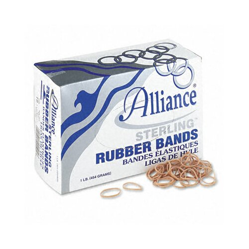 Alliance Rubber Sterling Ergonomically Correct Rubber Band, #10, 1-1/4 X 1/16, 5000 Bands/1 Lb Box