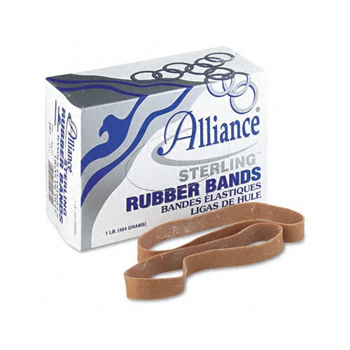 Alliance Rubber Sterling Ergonomically Correct Rubber Bands, #107, 7 X 5/8, 50 Bands/1Lb Box