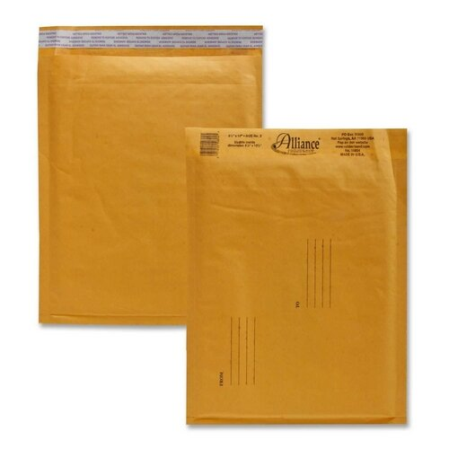 "Alliance Rubber Envelopes,No. 2,Bubble Cushioned,8-1/4""x12"""