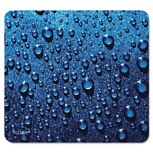 "Allsop Naturesmart Mouse Pad, Raindrops Design, 8 3/5"" X 8"""