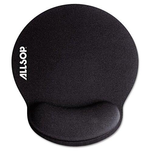 "Allsop Memory Foam Mouse Pad with Wrist Rest, 7 1/4"" X 8 1/4"""