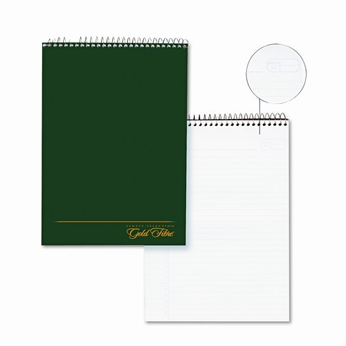 AMPAD Corporation Gold Fibre Wirebound Legal Pad, Legal/Wide Rule, Letter, White/Classic, 70 Sheets