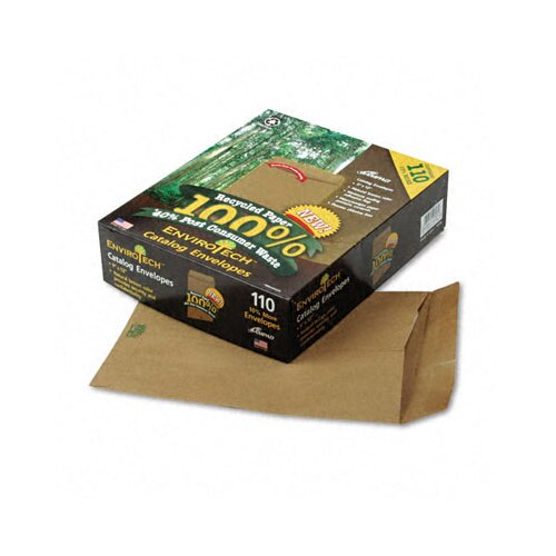 AMPAD Corporation Envirotech 60Lb. Catalog Envelope, Side Seam, 9 X 12, Kraft, 110/Box