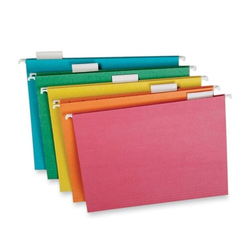 AMPAD Corporation Pendaflex Earthwise Envirotec Hanging File Folders, 1/5 Tab, Letter, 20/Box