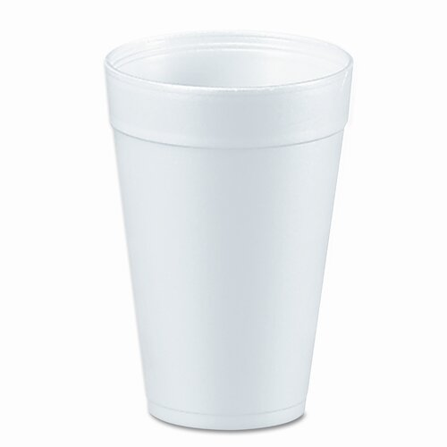 Dart Container Corp. Drink Foam Cups, 32 Ounces, White, 20 Bags of 25 Per Carton