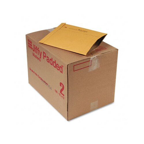 Sealed Air Corporation Jiffy Padded Mailer, Side Seam, #2, 100/Carton