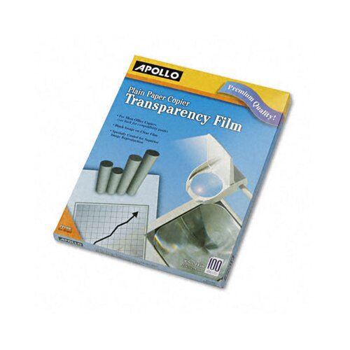 Apollo c/o Acco World Plain Paper Copier Transparency Film, Letter, 100/Box