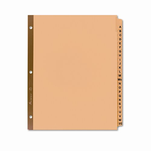 Avery Consumer Products Gold Reinforced Laminated Tab Dividers with A-Z Tabs (25 Tabs, 25 Sets/ Box)