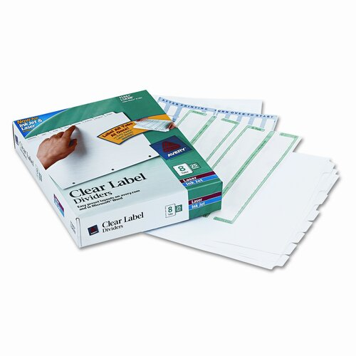 Avery Consumer Products Index Maker Clear Label Dividers (8 Tabs, 25 Sets/Pack)