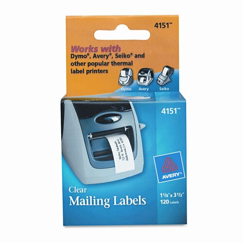 Avery Consumer Products Address Labels, 120/Roll, 1 Roll/Box