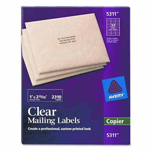 Avery Consumer Products Self-Adhesive Mailing Labels for Copiers, 2310/Pack