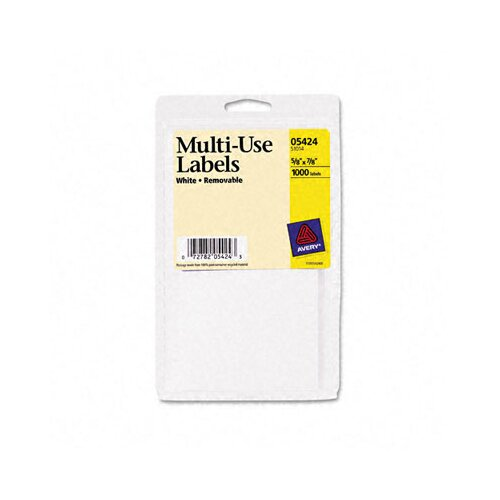 Avery Consumer Products Self-Adhesive Removable Multi-Use Labels, 1000/Pack