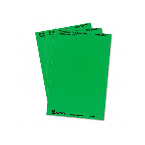 Avery Consumer Products Print or Write Removable Color-Coding Laser Labels, 1 X 3, 200/Pack