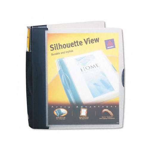 "Avery Consumer Products Silhouette Poly View Binder with Inside Pocket, 1-1/2"" Capacity"