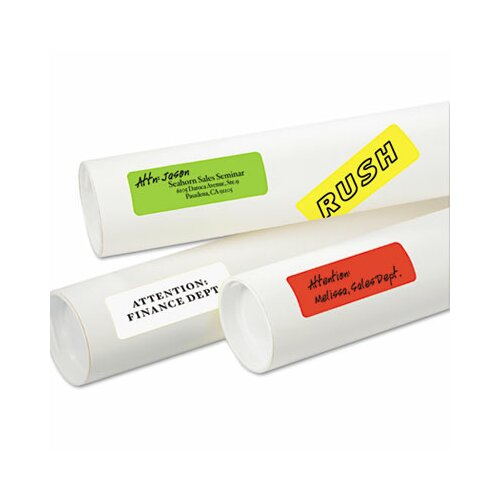 Avery Consumer Products Print or Write Removable Color-Coding Laser Labels, 1x3, Assorted Neon, 200/Pack