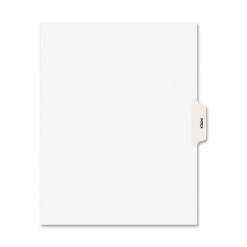 "Avery Consumer Products Index Divider, ""Index"", Side Tab, 8-1/2""x11"", 25 per Pack, White"