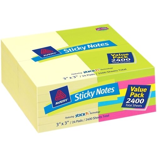 Avery Consumer Products Removable Adhesive Sticky Note