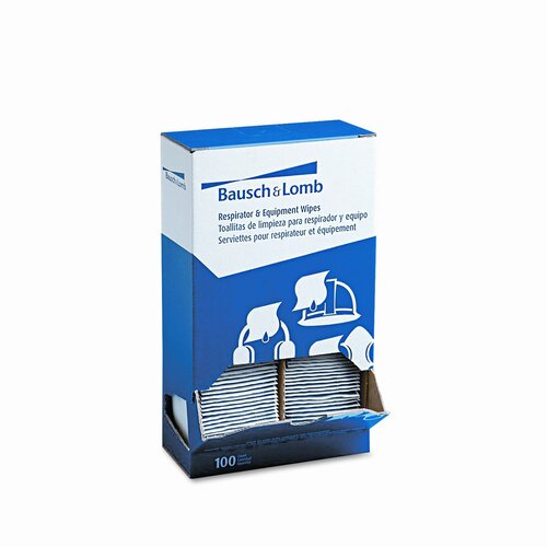 Bausch & Lomb 5 x 8 Antibacterial Office Equipment Wet Wipes (100/Box)
