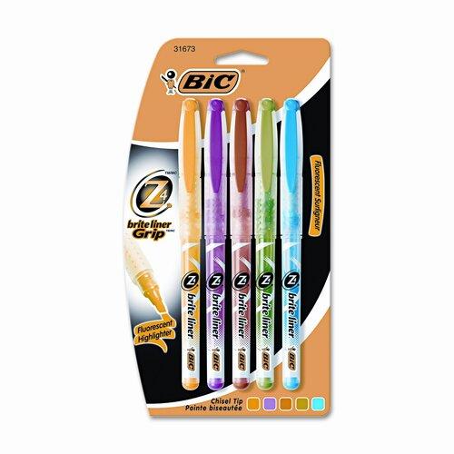 Bic Corporation Chisel Tip Brite Liner + Highlighter