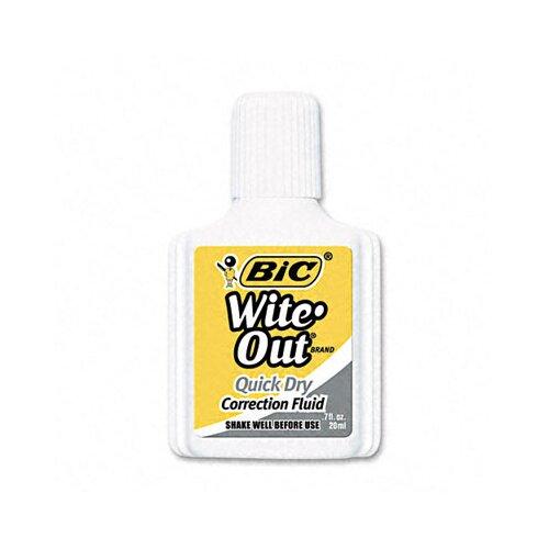 Bic Corporation 20 Ml Bottle Wite-Out Quick Dry Correction Fluid (Dozen)