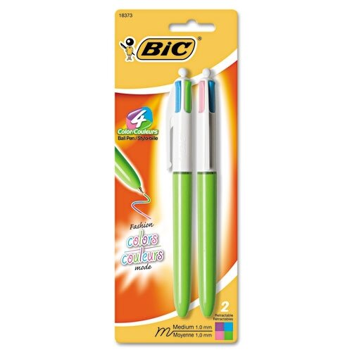 Bic Corporation Medium 4-Color Ballpoint Retractable Pen (2/Pack)