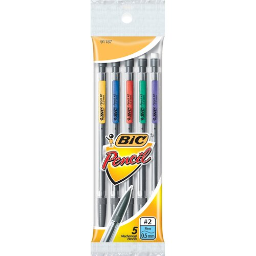 Bic Corporation 5 Count 0.5mm Bic Matic Classic Mechanical Pencil