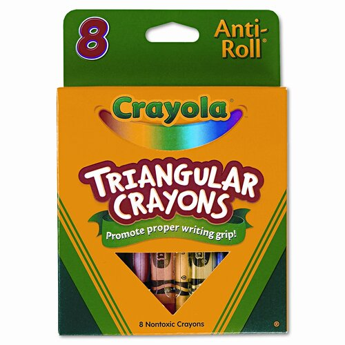 Crayola LLC Triangular Crayons (8/Box)