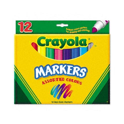 Crayola LLC Non-Washable Broad Point Markers(12/Set)