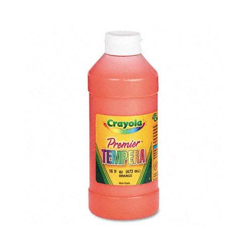 Crayola LLC Premier Tempera Paint, Orange, 16 Ounces