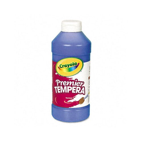 Crayola LLC Premier Tempera Paint, Blue, 16 Ounces