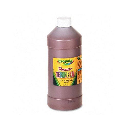 Crayola LLC Premier Tempera Paint, Brown, 32 Ounces
