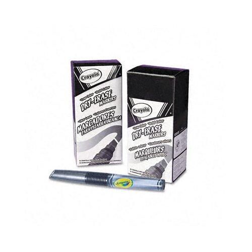Crayola LLC Dry Erase Chisel Tip Marker, 12/Pack