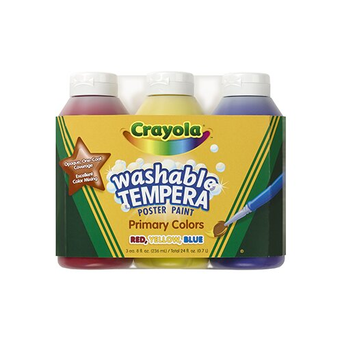 Crayola LLC Tempera Paint Washable 3ct 8oz