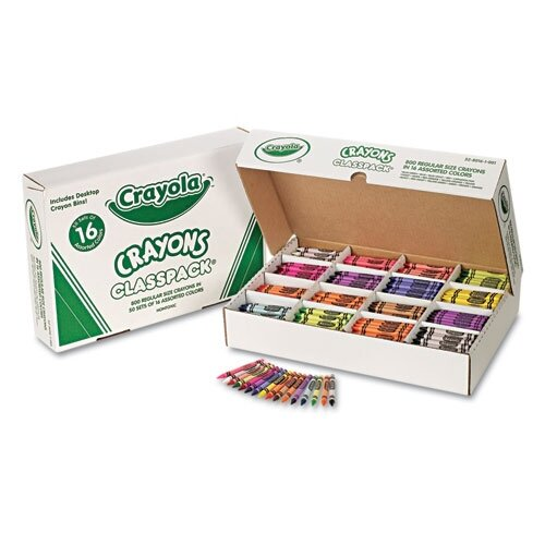 Crayola LLC Classpack Regular Crayons 16 Colors (800 per Box)